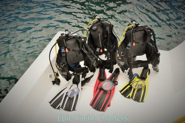 catamaran_tranquility_scuba_gear